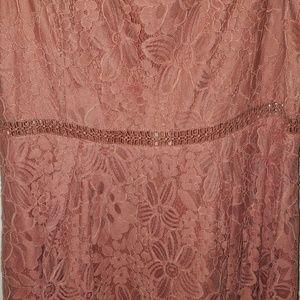 Francesca's Collections Dresses - Soft pink lace dress